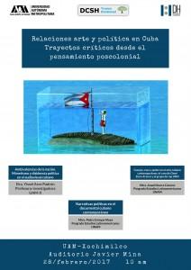 Relaciones arte y politica en Cuba. Trayectos  criticos desde el pensamiento poscolonial.